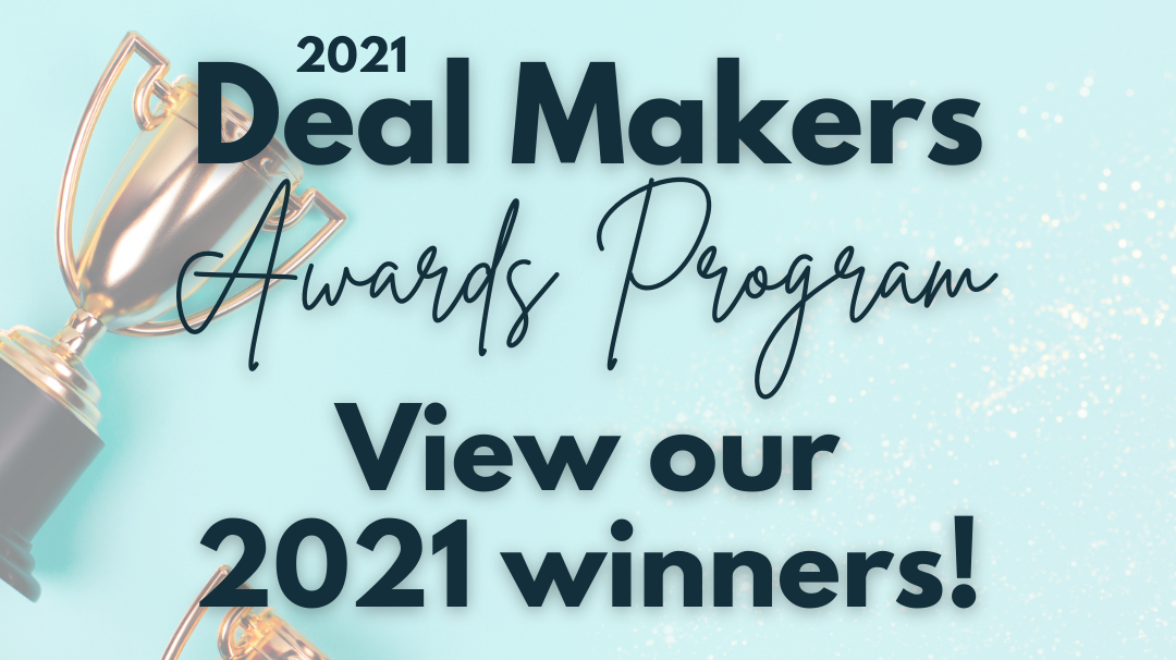 Deal Makers 2021 winners banner